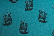 Cotton Jersey Panda Petrol