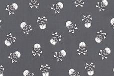 Cotton Big Skulls Grey