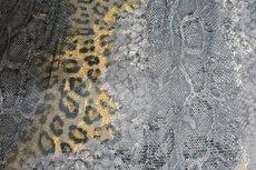 Viscose Jersey Flockprint Leo Snake