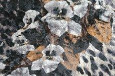 Viscose Jersey Flockprint Animal Flower