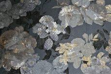 Viscose Jersey Flockprint Abstract Flower