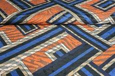 Viscose Jersey Flockprint Abstract Stripes Brick
