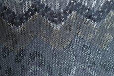 Viscose Jersey Flockprint Abstract Shapes Grey