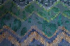 Viscose Jersey Flockprint Abstract Shapes Green Blue
