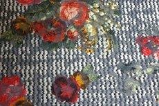 Viscose Jersey Flockprint Flower Knit Red