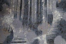 Viscose Jersey Flockprint Abstract Shadows Grey