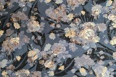 Viscose Jersey Flockprint Golden Flower