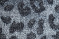 Knitted Leopard Grey