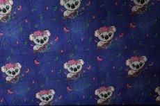 Cotton Jersey Koala Blue jeanslook