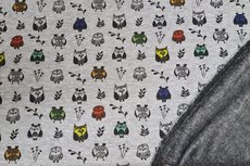 Alpenfleece/Sweat Owls Grey