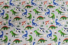 Cotton Jersey Dino Grey
