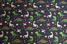Cotton Jersey Dino Navy