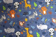 Cotton Jersey Zoo Blue