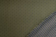 Cotton Jersey Stripes/Dots double Green