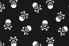 Cotton Big Skulls Black