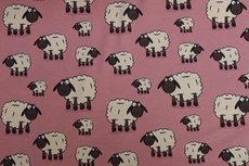 Cotton Jersey Sheep Old Pink