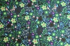 Cotton Jersey Little Flowers Petrol