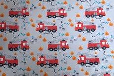Cotton Jersey Fire Truck Light Grey