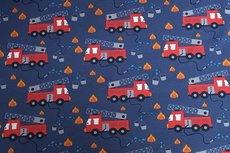 Cotton Jersey Fire Truck Blue