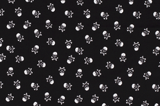 Cotton Skulls Black