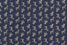 Cotton Zebra Indigo