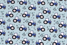 Cotton Jersey Tractor Light Blue