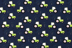 Cotton Jersey Tractor Navy