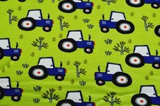 Cotton Jersey Tractor Lime Green