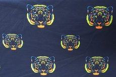 Cotton Jersey Neon Lions Navy