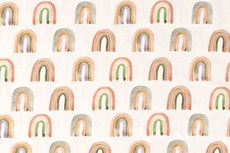 Cotton Jersey Digital Rainbow Off White 1