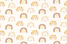Cotton Jersey Digital Rainbow Off White 2