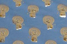 Katoenen Tricot foil Lion Blue