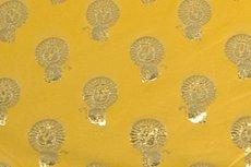 Katoenen Tricot foil Lion Yellow