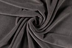 Rib-Jersey Middle Grey katoen- velours