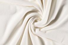 Rib-Jersey Off White katoen