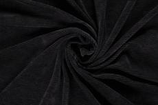 Fine Corduroy Jersey Black