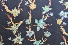 Viscose Flowers Turquoise