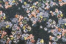 Viscose Little Flowers Black/Multi