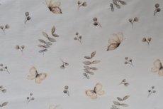 Cotton Jersey Butterflies Off White