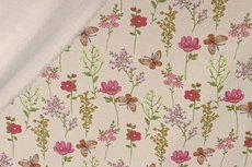 Jogging/Sweat Butterfly Flowers Creme