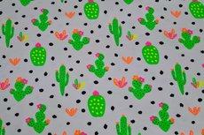 Cotton Jersey Neon Cactus
