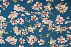 Viscose Jersey Digital Cherry Blossom Dark Aqua