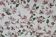 Viscose Jersey Digital Cherry Blossom White