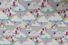 Cotton Jersey Unicorn Stars Grey