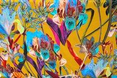 Cotton Jersey Digital Flowers Oker