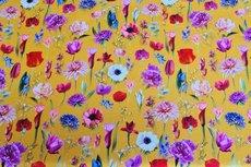 Cotton Jersey Digital Little Tulip Yellow