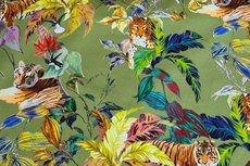 Cotton Jersey Digital Tigers Green