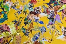 Cotton Jersey Digital Tigers Yellow