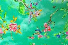 Cotton Jersey Digital Bird Mint/Lime