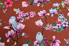 Cotton Jersey Digital Owl Brick